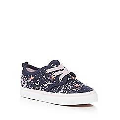 Vans - Girls' navy 'Atwood' slip-on trainers