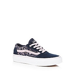 Vans - Girls' navy 'Milton' splatter trainers