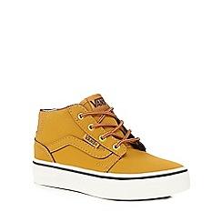 Vans - Boys' tan 'Chapman' mid waxed boots