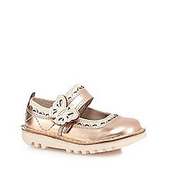 Kickers - Girls' metallic 'Doli' butterfly detail shoes