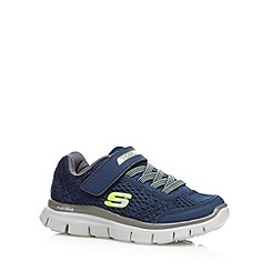Skechers - Boys' navy mesh trainers