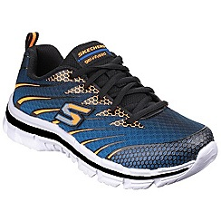 Skechers - Blue and Orange Nitrate Lace up Shoe