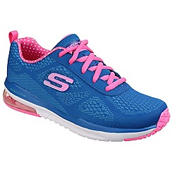 Skechers - Blue and Pink Skech-Air Infinity Memory Foam Lace up Trainer