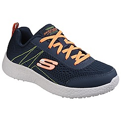 Skechers - Navy and Orange Burst Second Wind Memory Foam Lace up Trainer