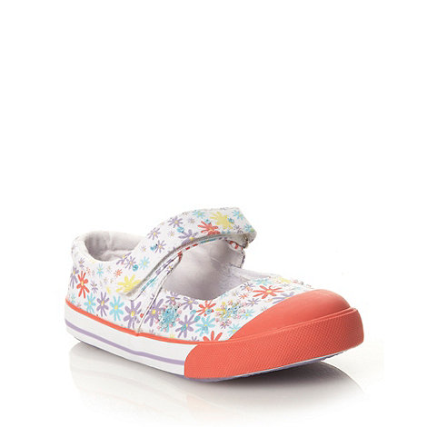 bluezoo - Girls+ lilac floral print mary jane shoes