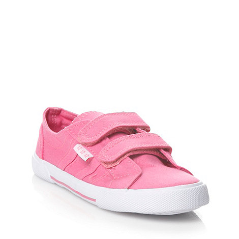 bluezoo - Girl+s pink fastening canvas trainers