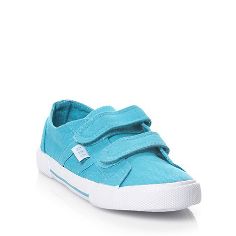 bluezoo - Boy+s turquoise fastening canvas trainers