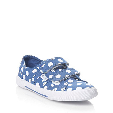 bluezoo - Girl+s blue polka dot canvas trainers