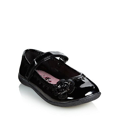 bluezoo - Girl+s black applique shoes