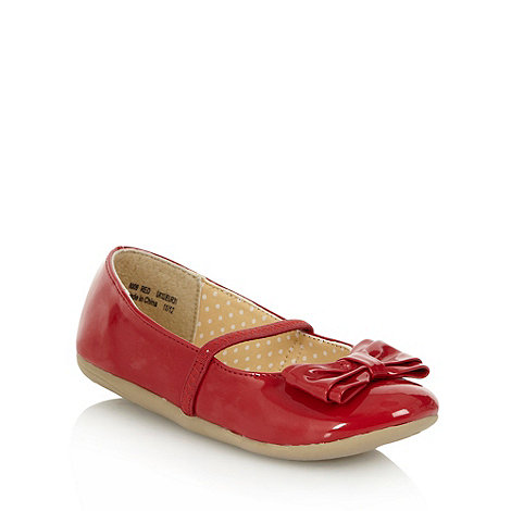 bluezoo - Girl+s red patent bow pumps