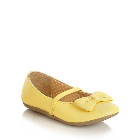 bluezoo - Girl+s yellow bow applique shoes
