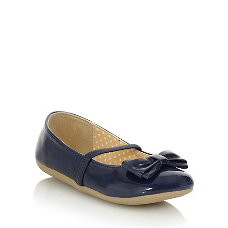 bluezoo - Girl+s navy bow shoes