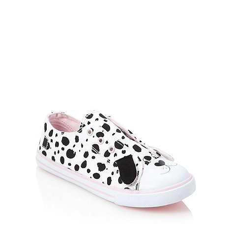 bluezoo - Girl+s white applique dog trainers