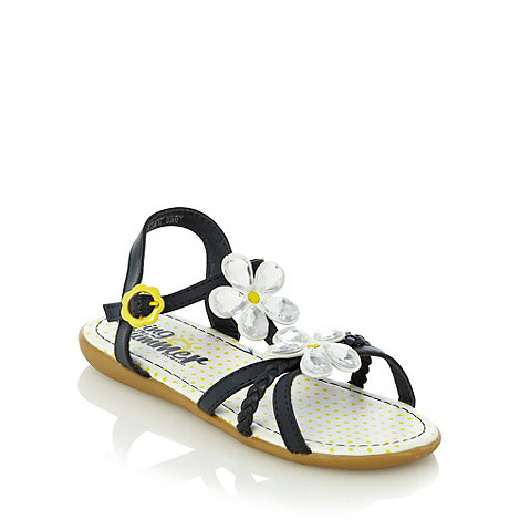 bluezoo - Girl+s navy jewel flower sandals