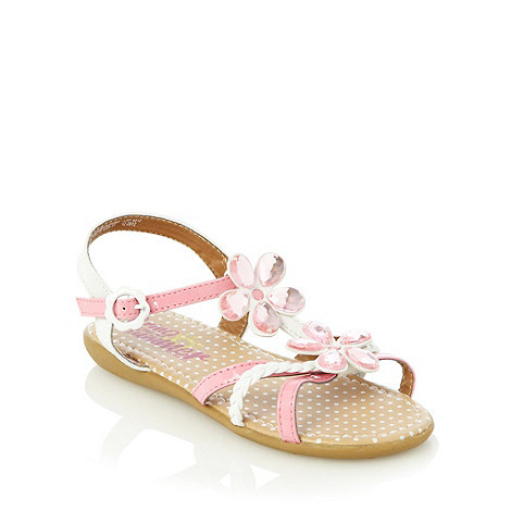bluezoo - Girl+s white jewel flower sandals