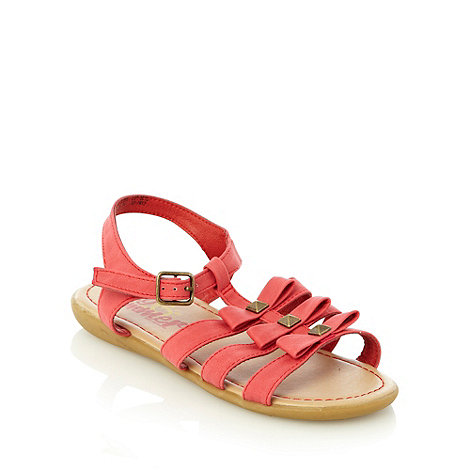 bluezoo - Girl's red studded gladiator sandals