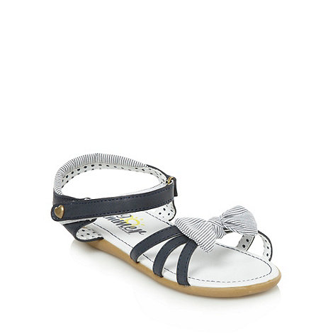 bluezoo - Girl's navy striped bow sandals
