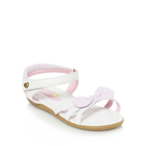 bluezoo - Girl+s white striped bow sandals