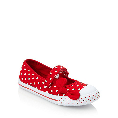 bluezoo - Girl+s red polka dotted pumps