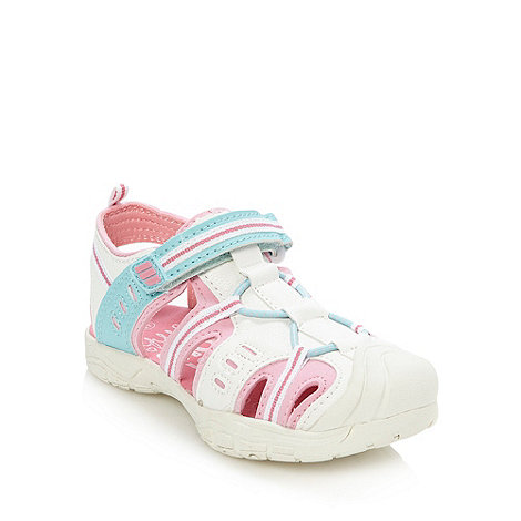 bluezoo - Girl+s white closed toe sandals