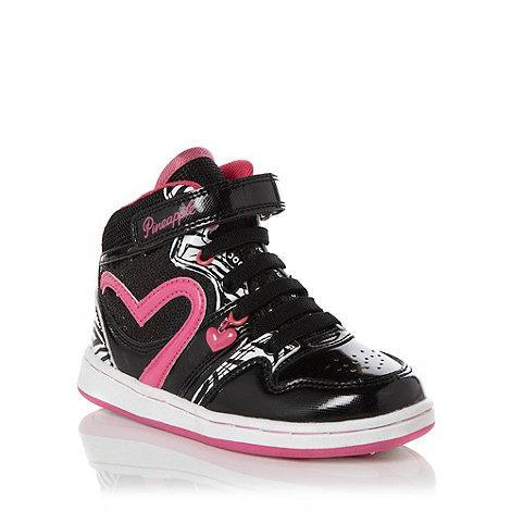 Pineapple - Girl+s black +Glitzy+ hi top trainers