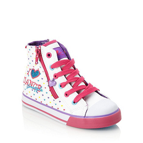 Pineapple - Girl+s white patterned high top trainers