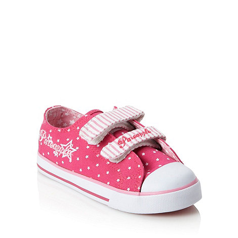 Pineapple - Girl+s pink rip tape canvas trainers