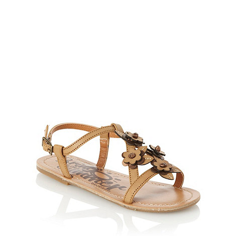 bluezoo - Girl's tan floral sandals