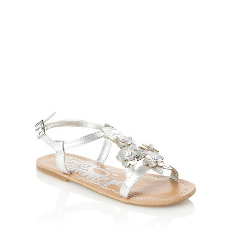 bluezoo - Girl+s silver floral sandals