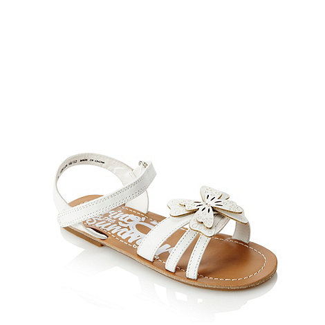 bluezoo - Girl+s white 3D butterfly sandals