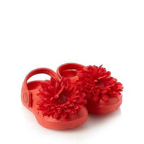 bluezoo - Baby's red corsage clogs
