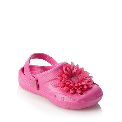 bluezoo - Girl's pink corsage clogs