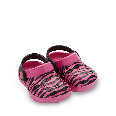 bluezoo - Girl+s pink zebra printed clogs