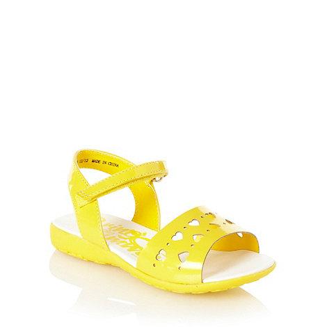 bluezoo - Girl+s yellow heart sandals