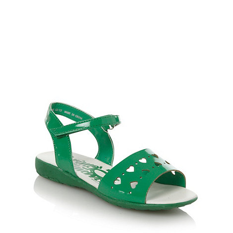 bluezoo - Girl's green heart sandals