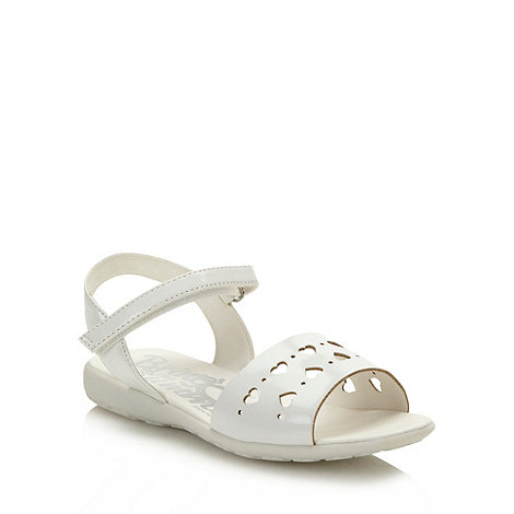 bluezoo - Girl+s white cut out heart sandals