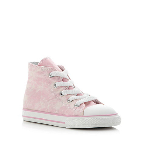 Converse - Girl+s pink hi-top trainers