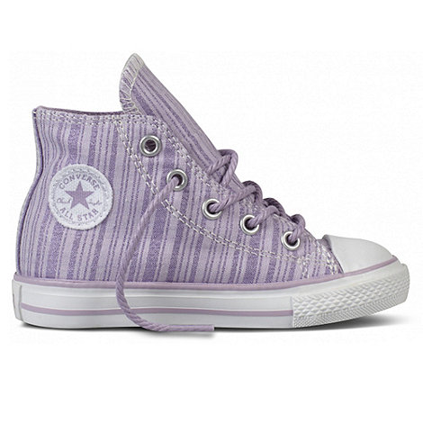 Converse - T-shirt girl+s Lilac High Top Trainers