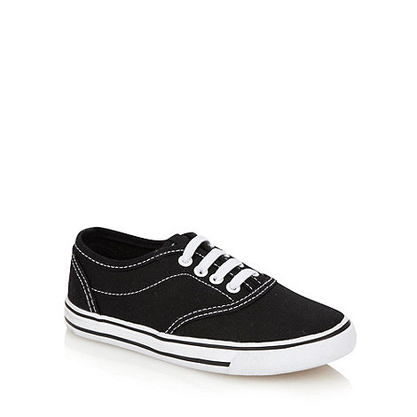bluezoo - Boy+s black canvas trainers
