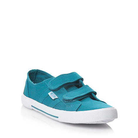 bluezoo - Children+s teal canvas trainers