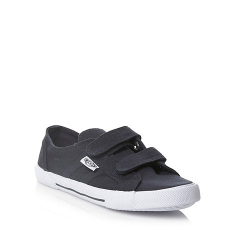 bluezoo - Boy+s navy blue fastening canvas trainers