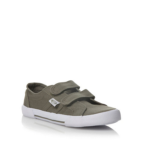 bluezoo - Boy's khaki two tab canvas trainers
