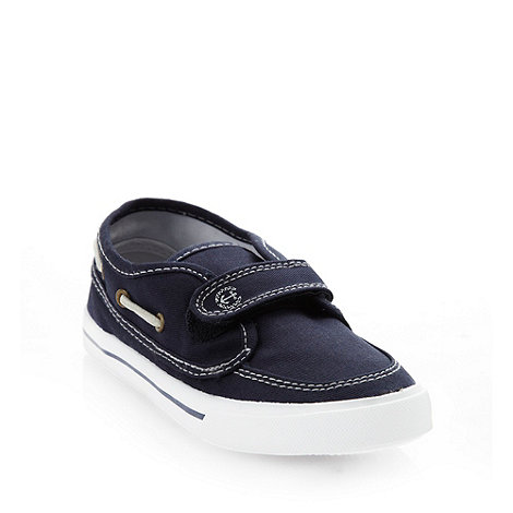 bluezoo - Boys+ navy canvas boating shoes