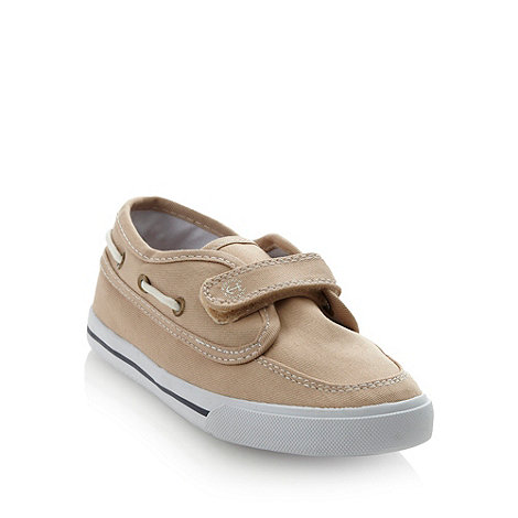 bluezoo - Boys' natural canvas boating shoes