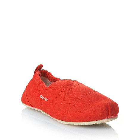 bluezoo - Boy+s red canvas shoes