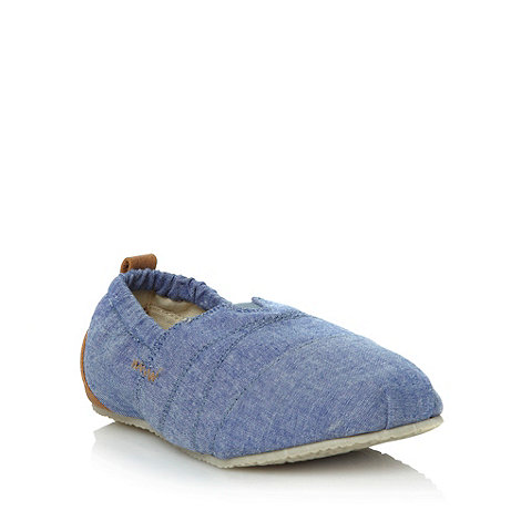 bluezoo - Boys+ blue chambray slip-on shoes