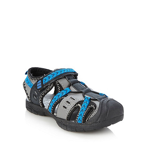 bluezoo - Boy+s grey closed toe sandals