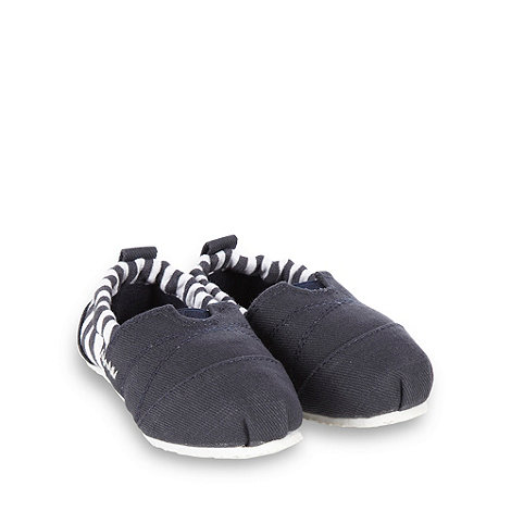 bluezoo - Baby+s navy nautical striped espadrilles