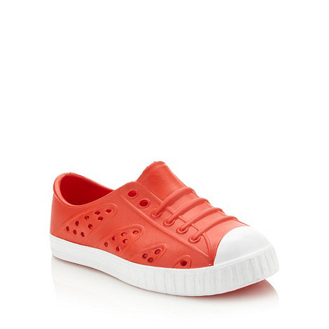 bluezoo - Boy+s red jelly trainers