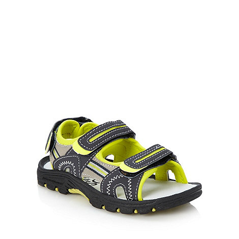 bluezoo - Boy's grey highlighted strap sandals